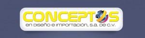 Logo de Conceptos en Diseños e Importación